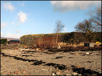 Remains of the fort at Fort William. Picture courtesy of Dr Tony Pollard