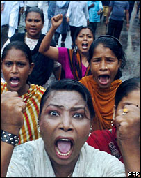 A protest against Awami League supporters