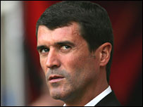 Roy Keane during Spurs game