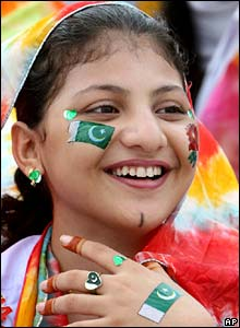 Girl watches Karachi ceremony