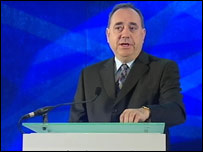 Alex Salmond said no change was no longer an option
