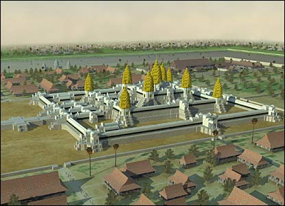 Digital reconstruction of Angkor (Copyright: Tom Chandler, Monash University)