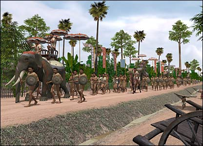 Digital reconstruction of Angkor (Copyright: Tom Chandler, Monash University))