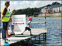Stone skimming championship