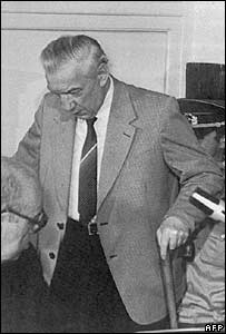 Heinz Barth during his trial in Berlin in 1983