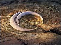 Eden gardens in Riyadh - aerial view