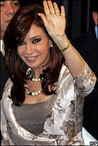Cristina Kirchner, candidata presidencial oficialista