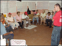Community council meeting in the 23 January district of Caracas