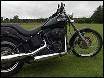 A Harley Davidson bike like Mr Tobin's