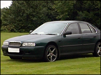 A green Rover like the one the murderer was thought to be travelling in