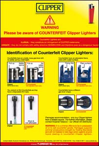 Clipper warning notice