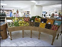 Fresh food hall at Fortnum & Mason