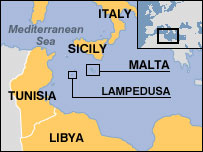 Map of Lampedusa
