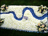Floral tribute from the cast of EastEnders