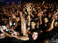 Indians at an Iron Maiden concert