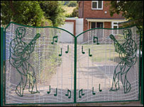 The gates to Julie Yeardye's house