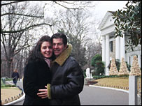Julie and Trevor Yeardye at Graceland