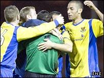 St Johnstone celebrate their victory