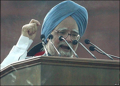 Manmohan Singh on independence day