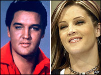 Elvis and Lisa Marie Presley