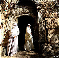 Door to Yazidi temple in Dohuk, northern Iraq