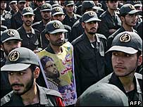 Iran's Revolutionary Guards demonstrate in October 2006