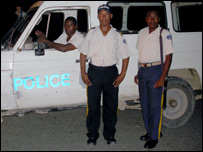 Police from Marmalade. Photo copyright Orphans International Worldwide