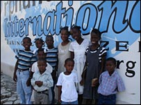 Kids outside OI's orphanage. Photo copyright Orphans International Worldwide