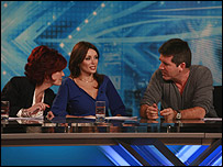 Sharon Osbourne, Dannii Minogue and Simon Cowell