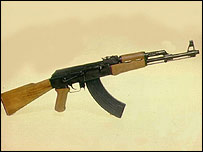 Kalashnikov rifle like that used by Michael Ryan