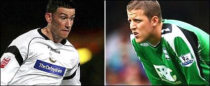 Derby County midfielder David Jones will meet Birmingham keeper Colin Doyle