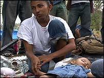Familia de inmigrantes indocumentados en M�xico