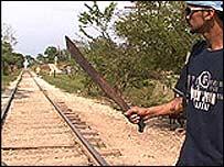 Hombre con machete en el sur de M�xico