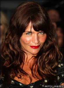 Model Helena Christensen at the London premiere of the Bourne Ultimatum