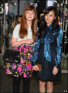 Harry Potter stars Bonnie Wright and Katie Leung at the Bourne Ultimatum premiere in London