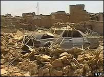 Video still of the some of the damage in northern Iraq