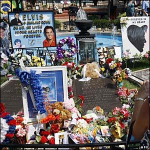 Handmade Elvis memorials