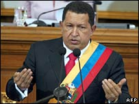 Hugo Chavez in the National Assembly, 15 August 2007