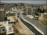 West Barrier passing through an East Jerusalem area