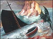 Devil and Boat by Steven Campbell, 1993