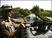 British soldier in Helmand province, Afghanistan