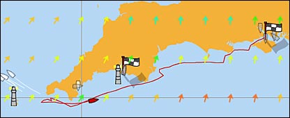 Fastnet race tracker