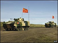 Chinese troops carry out exercises in Russia - 13/08/07