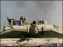 An Israeli tank. File photo
