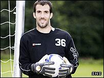 New Kilmarnock goalkeeper Damien Rascle