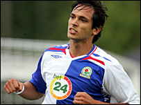 Blackburn striker Roque Santa Cruz