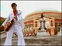 Andy Woodward as Elvis at the Albert Hall