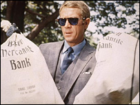 McQueen in The Thomas Crown Affair