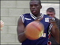 Luiol Deng plays during GB's victory over Ireland on Thursday