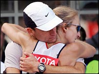 Gary Lough and Paula Radcliffe